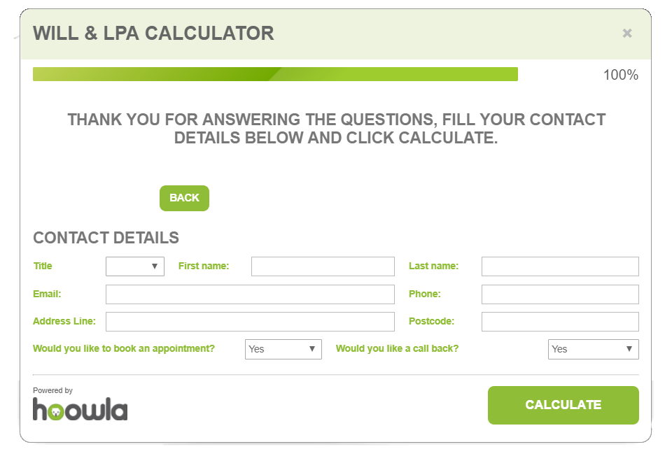 Hoowla Wills & LPA Calculator