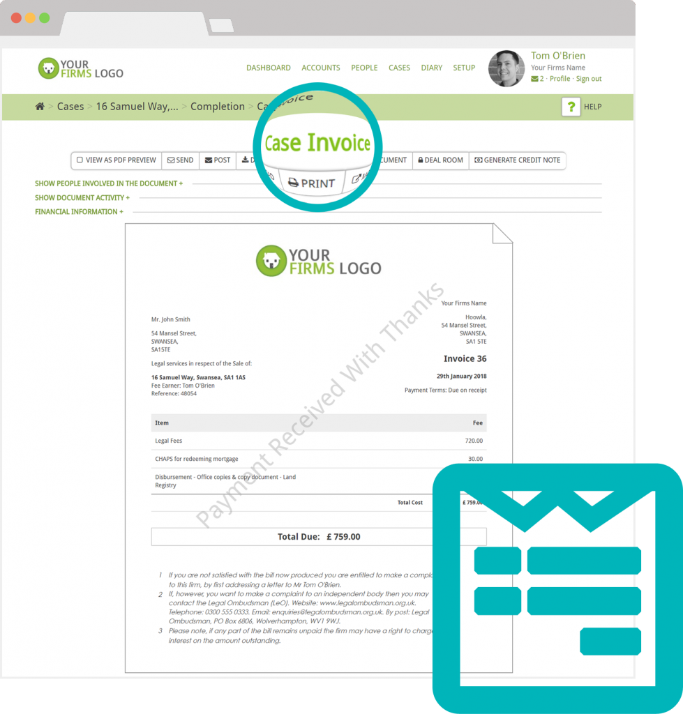 Invoicing legal accounting software