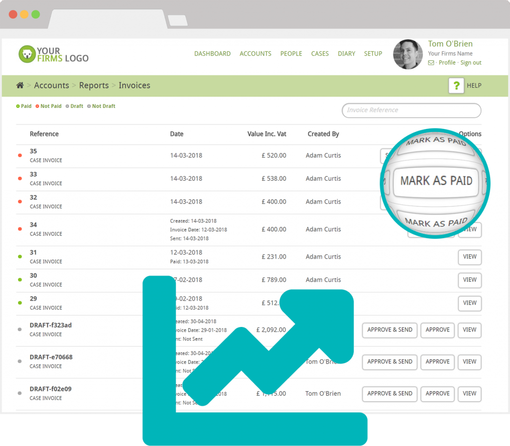 legal accounts invoicing software reports