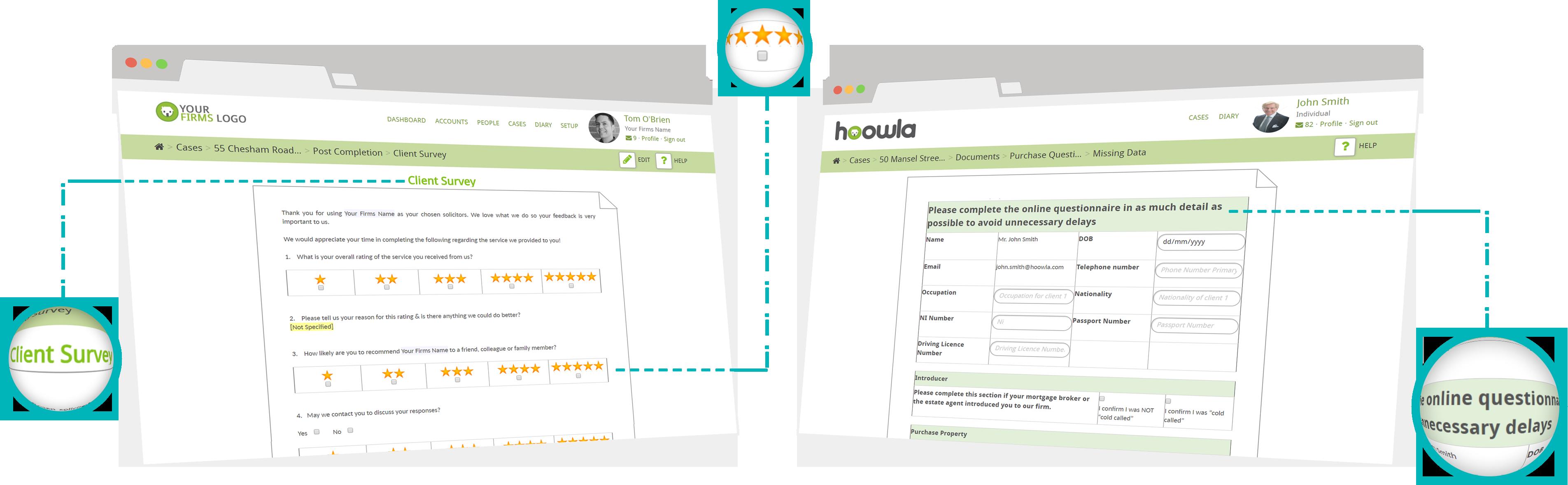 online client questionnaires data collection